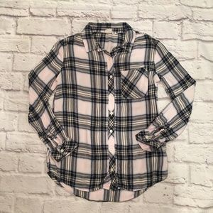 Girls Long Sleeve GAP KIDS Plaid Button Down Shirt